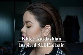 hair tutorial khloe kardashian sleek back hair youtube