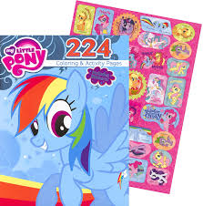 amazon com my little pony giant coloring and activity book with