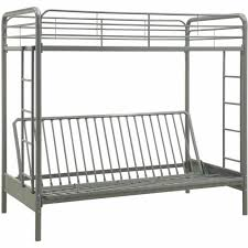 Dimensions Of Bunk Beds by Dhp Twin Over Futon Metal Bunk Bed Walmart Com