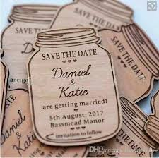 save the dates cheap hot sale wooden craft accessories wedding invitation cards