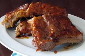 slow cooker barbecued ribs or pork chops recipe