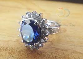 model cincin blue safir cincin kawin blue sun dengan batu blue safir cincin kawin madina