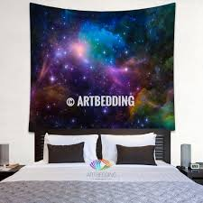 ta home decor galaxy tapestry multicolor 3d cosmos series nebula with stars