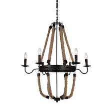 Leather Chandelier Filament Design Dabney 9 Light Brown Leather Chandelier Cli