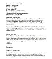 format for an official letter letter template