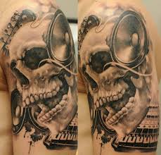 3d skull snake on arm for and