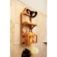 Teak Bathroom Accessories Teak Shower Organizer From Sportys Preferred Living
