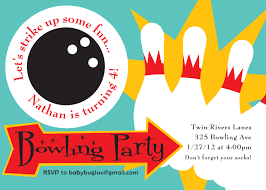 party invitations latest bowling party invitations ideas free