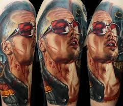 tyler durden portrait tattoo by dmitriy samohin photo no 14238