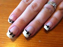 french nails with bow u2013 slybury com