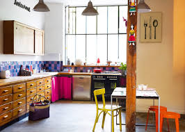 cuisine coloré revêtement sol cuisine les possibilités