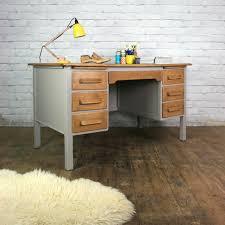 vintage painted oak twin pedestal desk pedestal desk pedestal