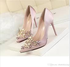 wedding shoes online uk 2017 white pink black purple silver bridal shoes silk