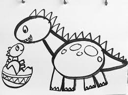 easy dinosaur drawing for kids easy drawings