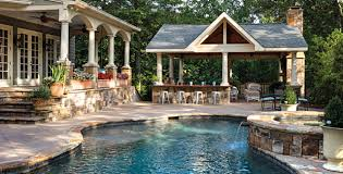 Custom Backyard Designs With Pool And Outdoor Kitchen With Plan - Custom backyard designs