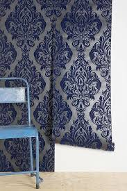 dauphine bywater blue damask wallpaper