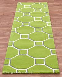 Modern Hallway Rugs Cassin Green Runner Runner Hallway Rug And