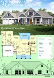 plan 51756hz 4 bed craftsman with tapered columns craftsman architectural designs 4 bed craftsman house plan 51756hz gives you single floor living under 2 800