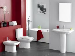red bathroom paint home design
