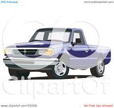 Ford Ranger Pickup Truck - clipart illustration of a blue ford ranger pickup truck by david