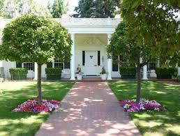 elegant formal desert front yard landscape inspiration home design