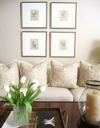 refreshed neutral living room and spring flowers classic casual home
