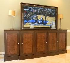 tv cabinet for 65 inch tv hand made 65 inch tv lift cabinet by jeffrey scott designs