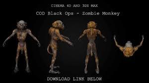 cinema 4d 3ds max black ops zombie monkey 3d model free