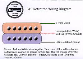 wiring a gfs humbucker need detailed harmony central