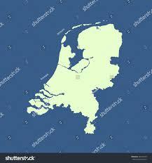 Map Of Netherlands Map Netherlands Stock Vector 340176749 Shutterstock