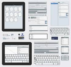 mock up ipad apps in illustrator with free ipad sketch elements ai