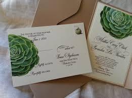 succulent wedding invitations succulent wedding invitation in kraft pouch debi sementelli