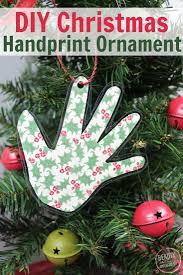 diy handprint keepsake ornament ornaments keepsakes and christmas