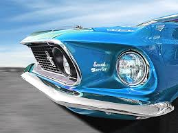 sky blue mustang breaking the sound barrier in sky blue mach 1 cobra jet mustang