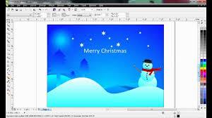 corel draw tutorial creative christmas card design using corel