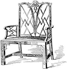 Chinese Chippendale Chair by Chippendale Chinese Chair 2 Clipart Etc