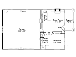 one story garage apartment floor plans floor plan 051g 0079 rec room house tiny houses