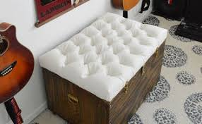 Tufted Storage Ottoman Diy Chic Storage Ottoman Project Tutorial Tire Upcycle Hometalk