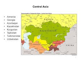 middle east map kazakhstan 1 comparative regional economy central asia middle east and