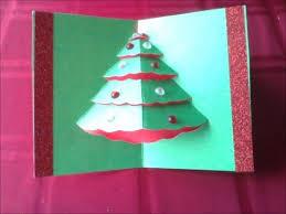 easy popup christmas tree card diff 2 10 carte de noël
