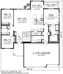 Ranch Style House Plans Ranch Style House Plan 3 Beds 2 Baths 1796 Sq Ft Plan 70 1243