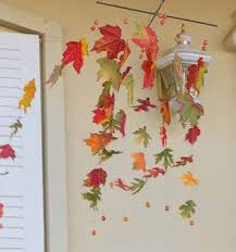 fall leaves of paper festive fall decorating ideas