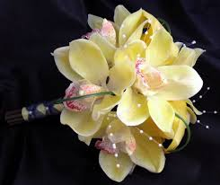 yellow orchid touch bouquet yellow calla yellow orchid boutylwcallorch