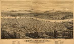 Portland Maps by 1870s Vintage Portland