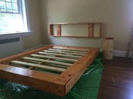 Diy Floating Bed Frame The Build Of My Floating Bed I Recently Made Woodworking