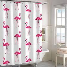 Flamingo Shower Curtains Destinations Flamingo Shower Curtain Jcpenney