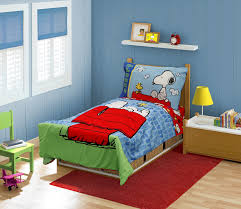 amazon com peanuts snoopy on the house toddler bed set blue baby