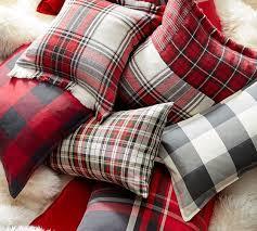 Pottery Barn Lumbar Pillow Covers Hamilton Plaid Pillow Cover Pottery Barn Plaid Pinterest