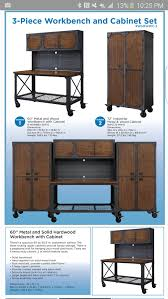 garage workbench and cabinets whalen 3 piece garage workbench cabinet set tools machinery in