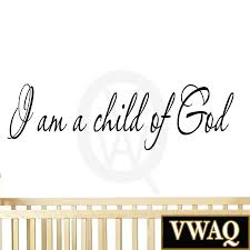 Wall Stickers Home Decor I Am A Child Of God Inspirational Wall Art Quote Nursery Decals